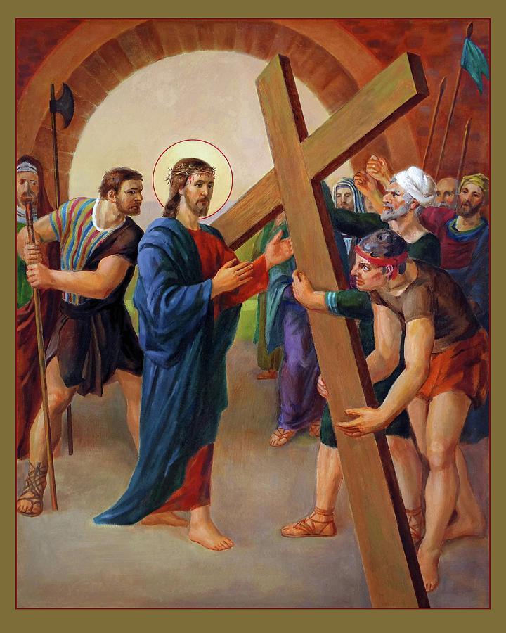 Via Dolorosa Painting - Via Dolorosa - Jesus Takes Up His Cross - 2 by Svitozar Nenyuk