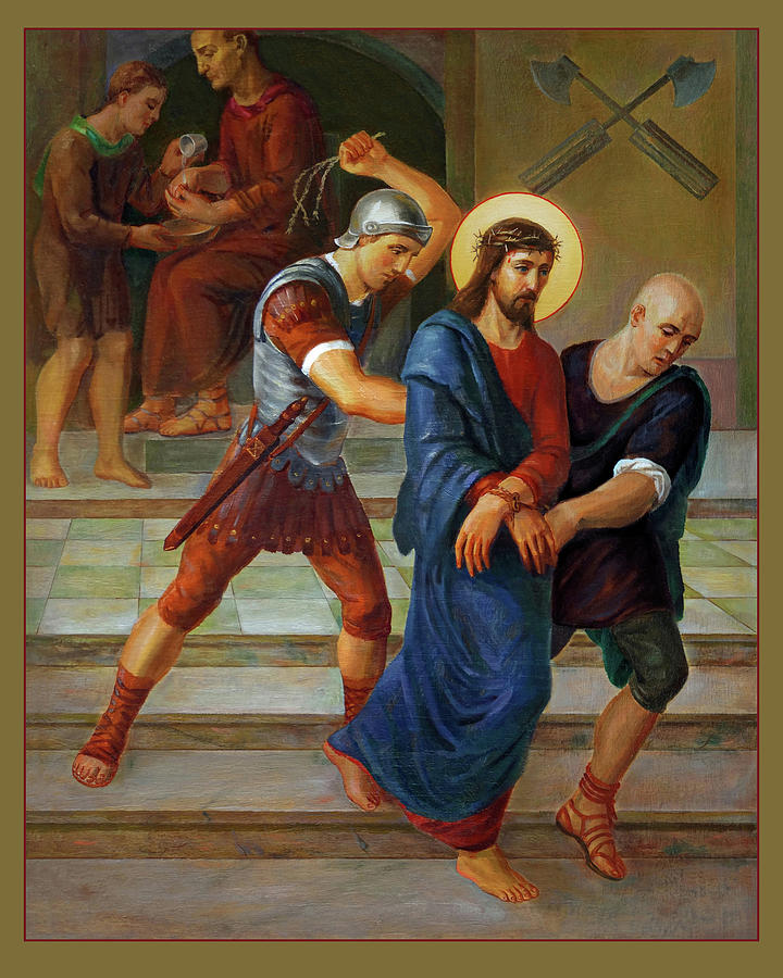 Altar Painting - Via Dolorosa - Stations Of The Cross - 1 by Svitozar Nenyuk