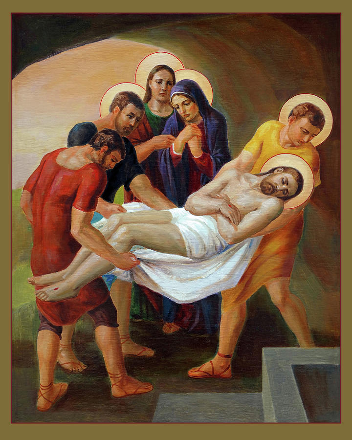 Via Dolorosa Painting -  Via Dolorosa - The Way Of The Cross - 14 by Svitozar Nenyuk