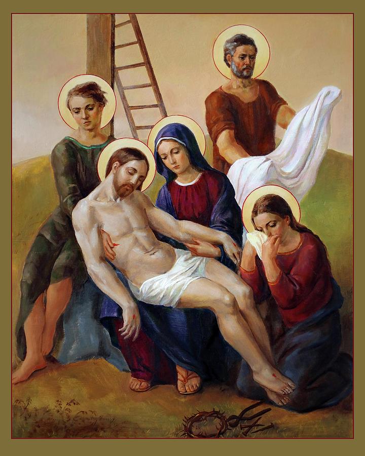 Via Dolorosa Painting - Via Dolorosa - Way Of The Cross - 13 by Svitozar Nenyuk