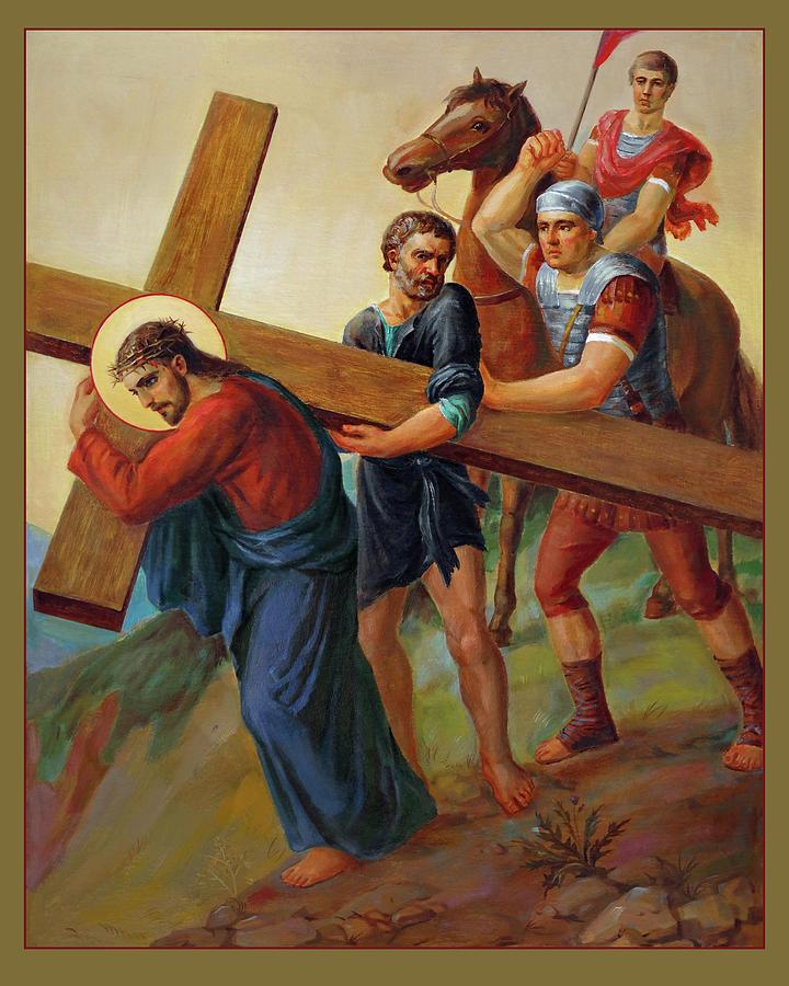 Via Dolorosa Painting - Via Dolorosa - Way Of The Cross - 5 by Svitozar Nenyuk