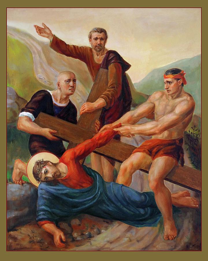 Via Dolorosa Painting - Via Dolorosa - Way Of The Cross - 9 by Svitozar Nenyuk