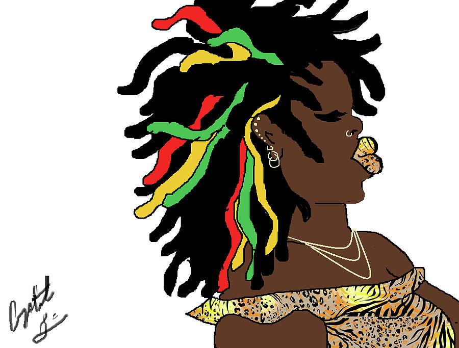 Black Girl Digital Art - Vibrations by Crystal Guidry