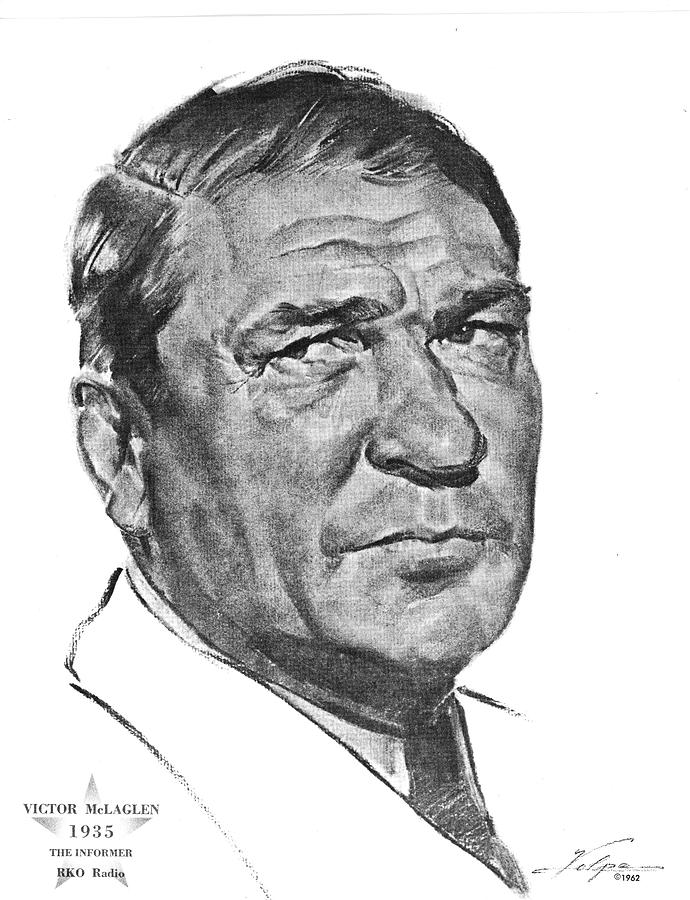 Victor Mclaglen By Volpe Drawing