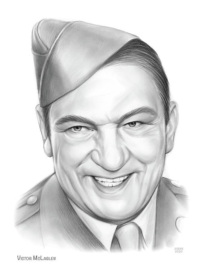 Victor Mclaglen Drawing - Victor McLaglen by Greg Joens