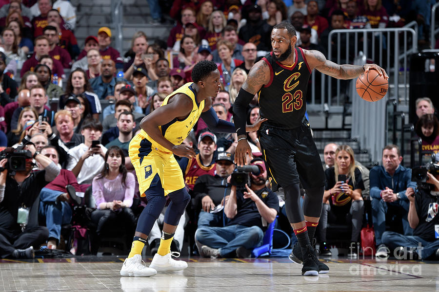 Victor Oladipo and Lebron James Photograph by David Liam Kyle
