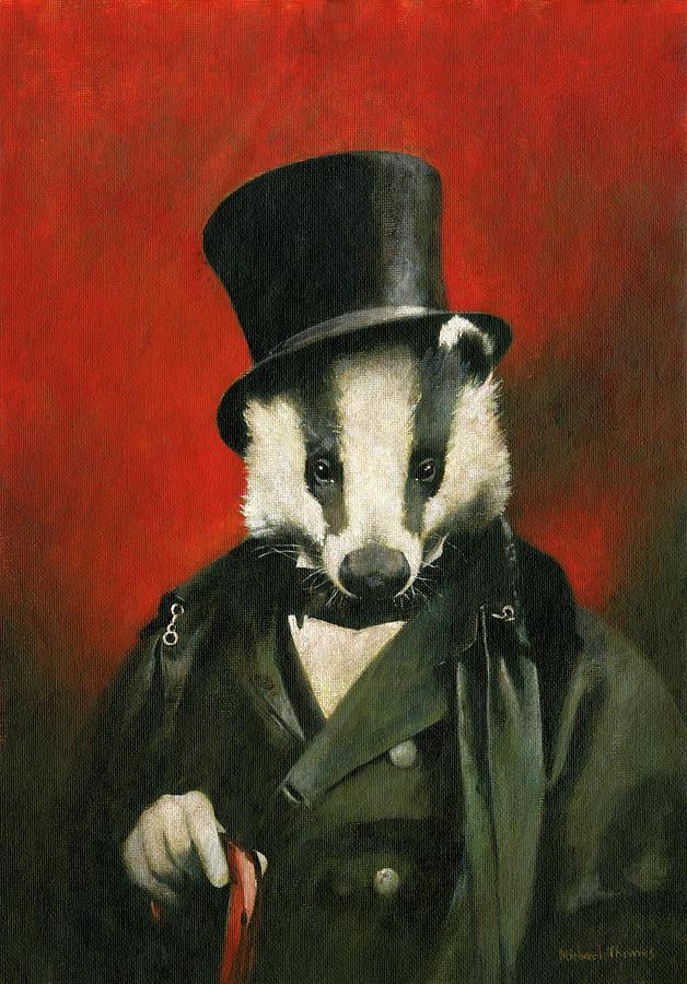 Victoriam Mr Badger Painting