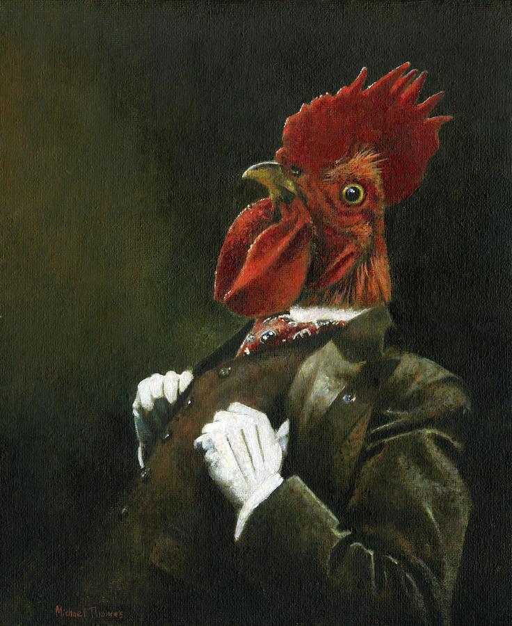 Victorian Cockerel Painting