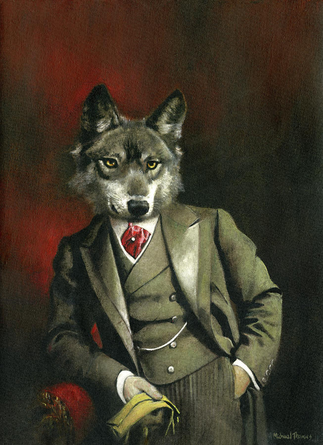 Victorian Mr Wolf Painting
