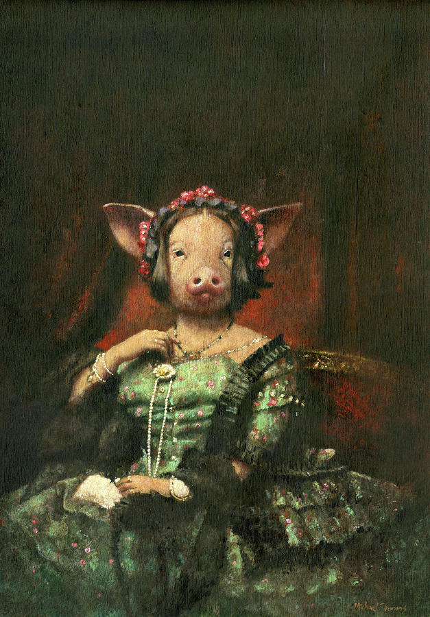 Victorian Mrs Pig Painting