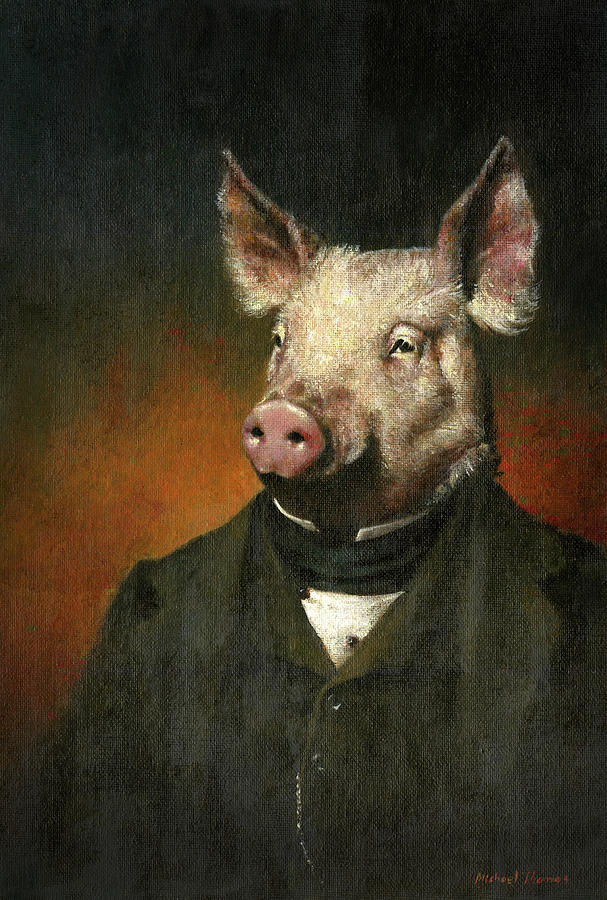 Victorian Pig Painting