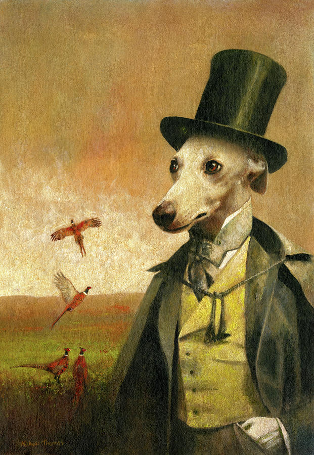 Victorian Whippet Painting