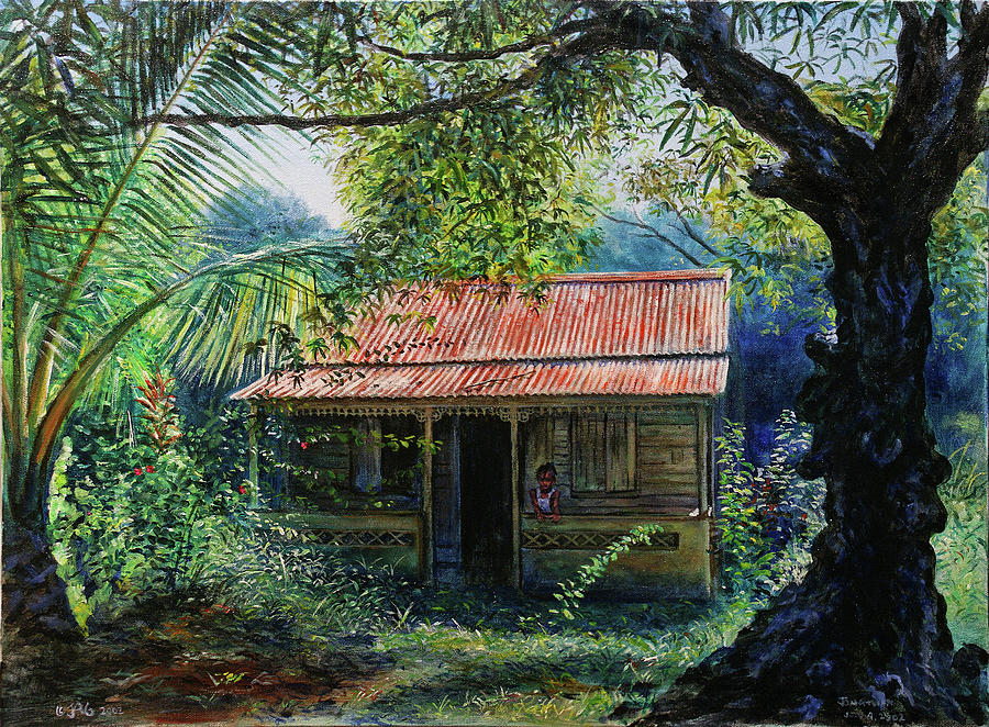Old House Painting - Vie Lakay by Jonathan Gladding