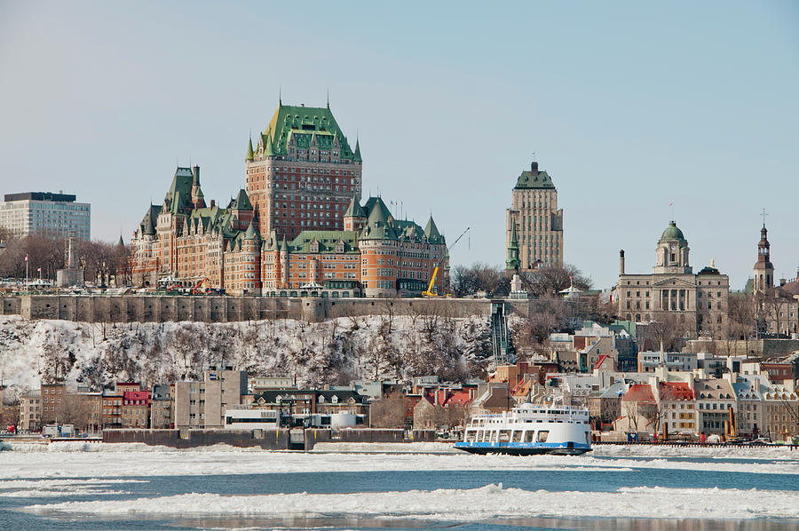 Vieuw Frontenac Castle from the river St Lawrence by Lieve Snellings