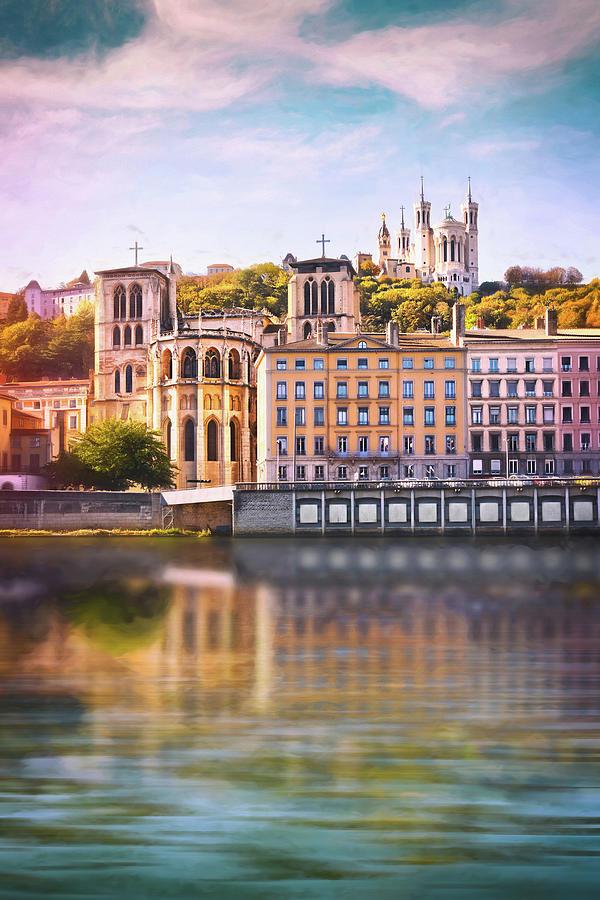 Vieux Lyon And Fourviere Lyon France Photograph