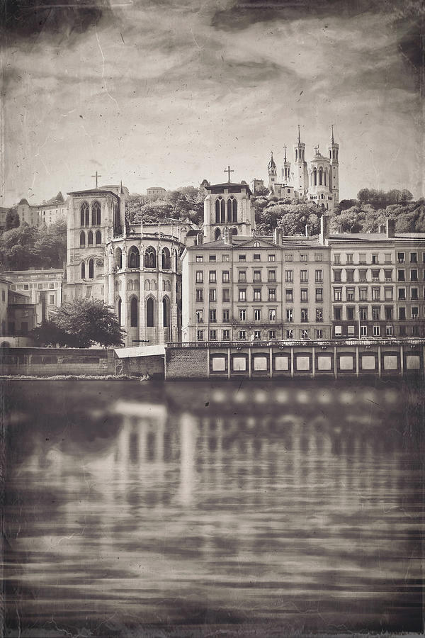 Vieux Lyon And Fourviere Lyon France Vintage Photograph