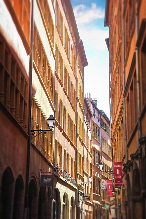 Vieux Lyon France Rue De Boeuf Photograph