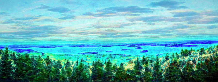Bar Harbor Digital Art - View From Cadillac Summit Road Bar Harbor Me by Mike Braun