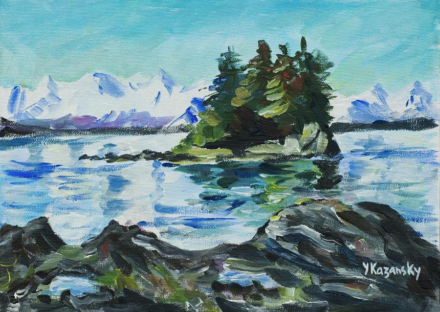 View from Douglas Island Juneau Alaska by Yulia Kazansky