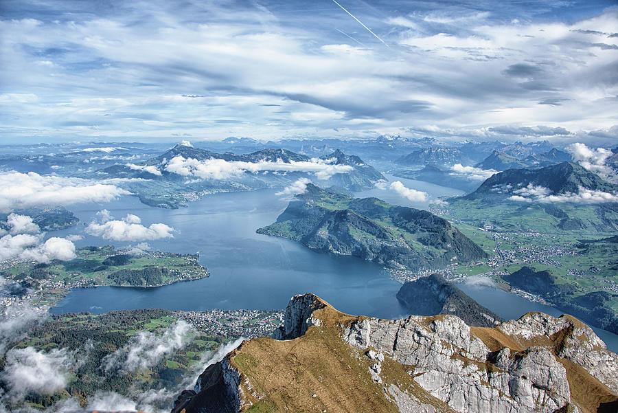View From Mount Pilatus - Swiss Alps - Switzerland Photograph
