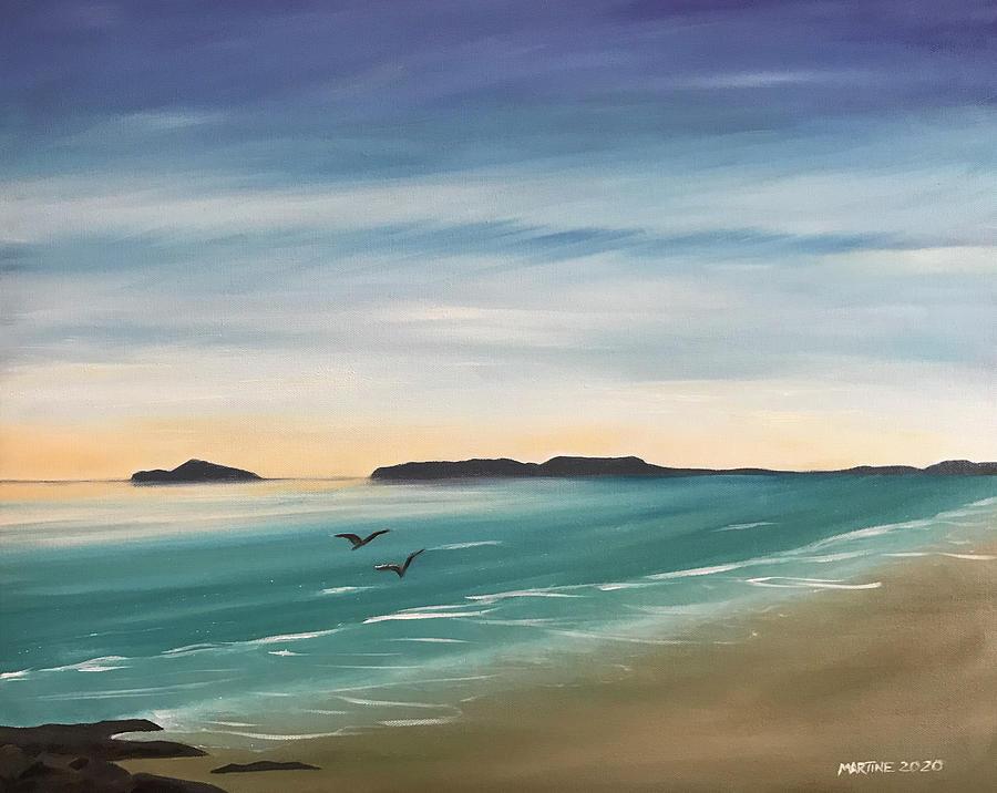 View From Velvet Strand Painting