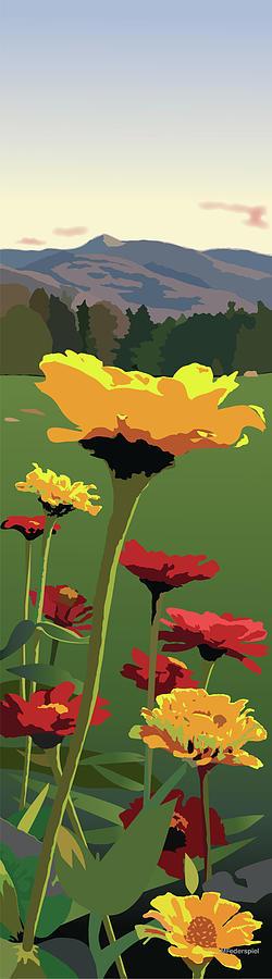 Flowers Digital Art - View from Whitegate by Marian Federspiel