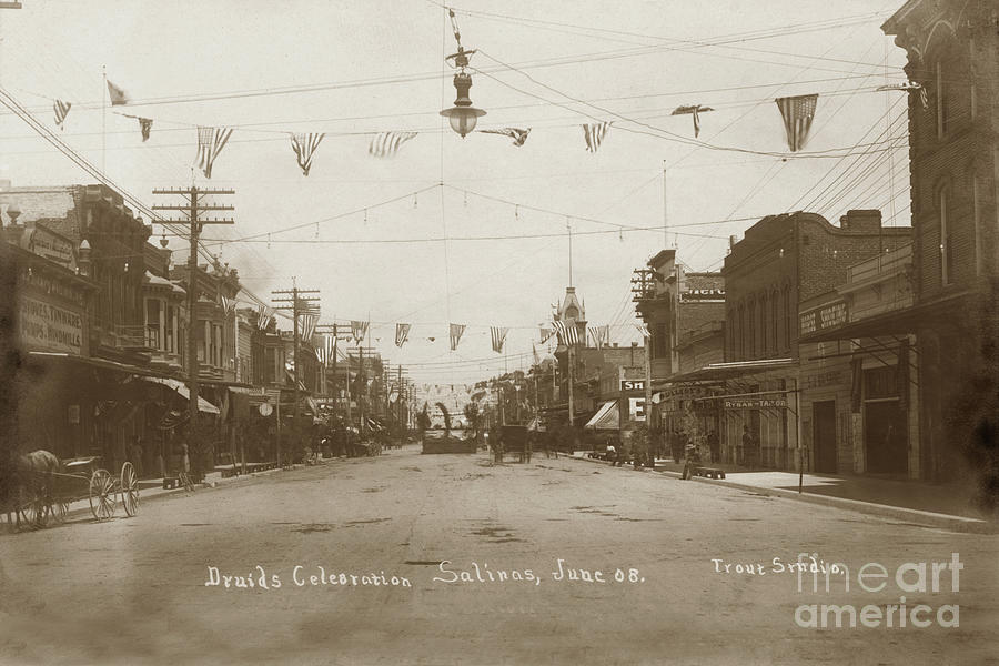 View looking down Main Street in Salinas, Monterey County during by California Views Archives Mr Pat Hathaway Archives