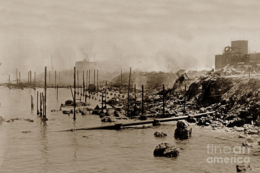View looking South of the Ruins of the California Fisheries Co.  by California Views Archives Mr Pat Hathaway Archives