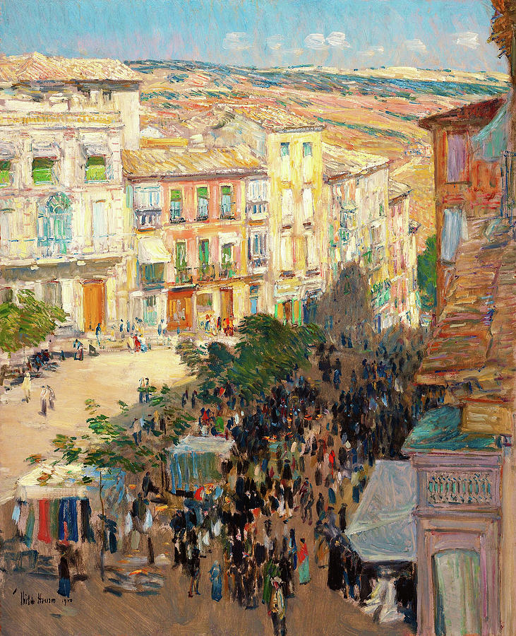 Frederick Childe Hassam Painting - View Of A Southern French City - Digital Remastered Edition by Frederick Childe Hassam