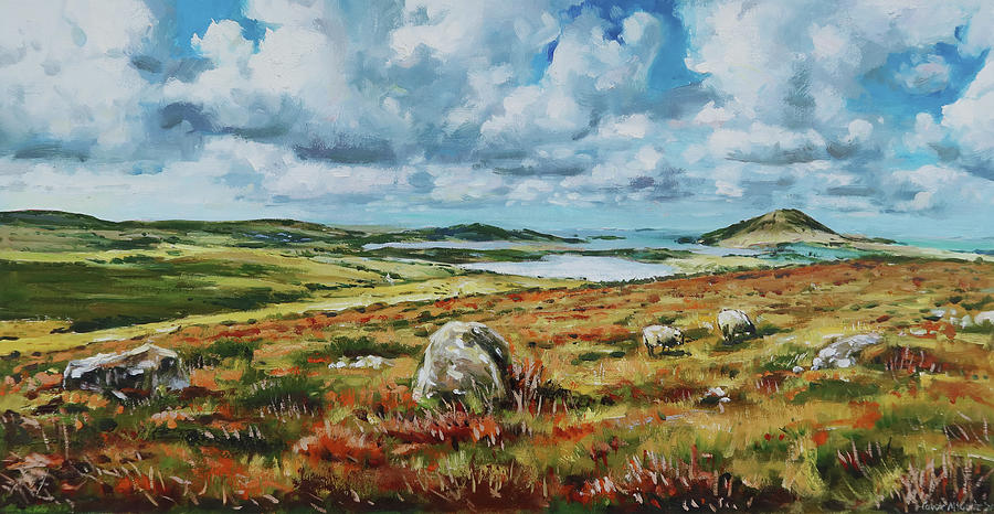 View Of Ballinakill From Letterfrack, County Galway Painting