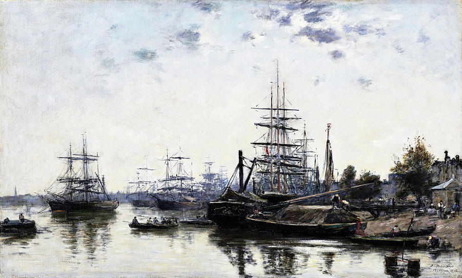 Eugene Louis Boudin Painting - View Of Bordeaux, From The Quai Des Chartrons - Digital Remastered Edition by Eugene Louis Boudin