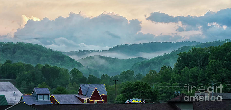 Tennessee Photograph - View Of Great Smoky Mountains Sunrise From Pigeon Forge, Tennessee by Felix Lai