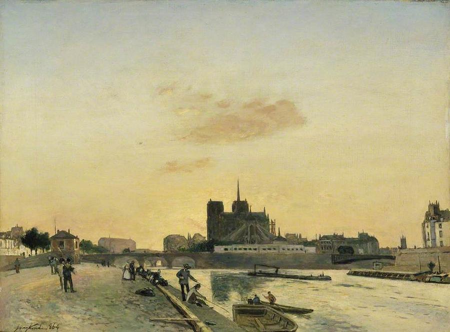 View Of Notre Dame Paris Painting