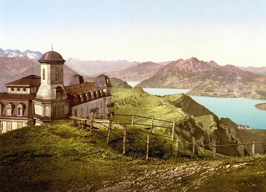 View Of Pilatus From Rigi Kulm, Schwyz, Switzerland 1890. Photograph
