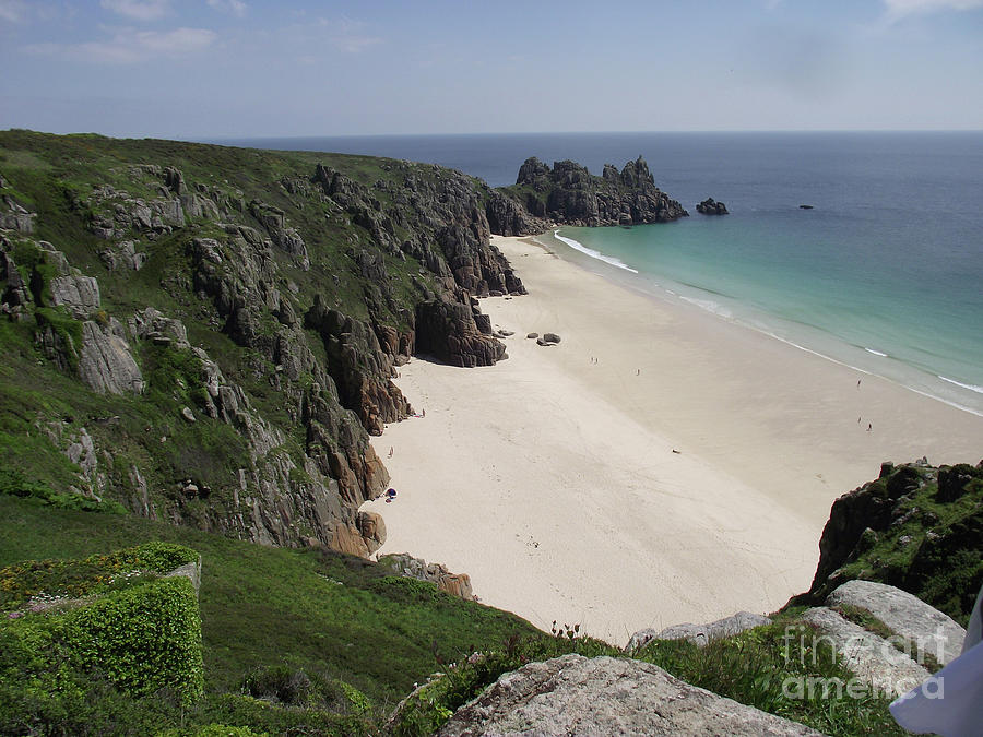 View of Porthcurno Cove by Jayne Wilson