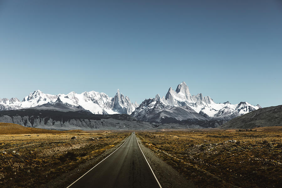 View of road to Fitz Roy in Patagonia Photograph by Anastasiia Shavshyna