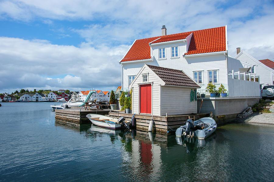 View of Skudeneshavn harbour by Max Blinkhorn