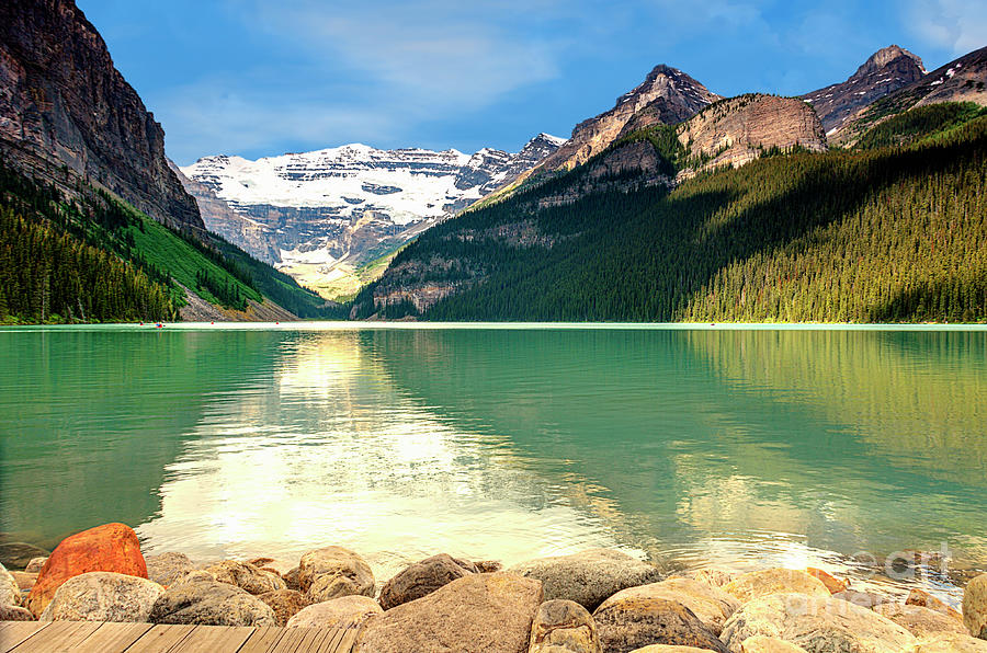 View Of The Emerald Lake Louise Photograph