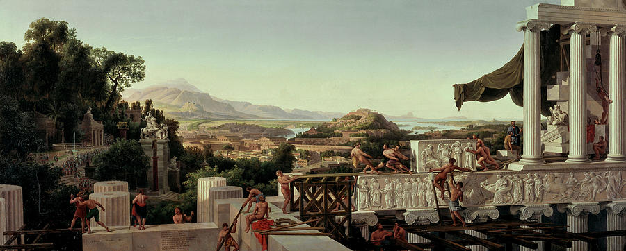 View of the Flower of Greece  by August Julius Ahiborn