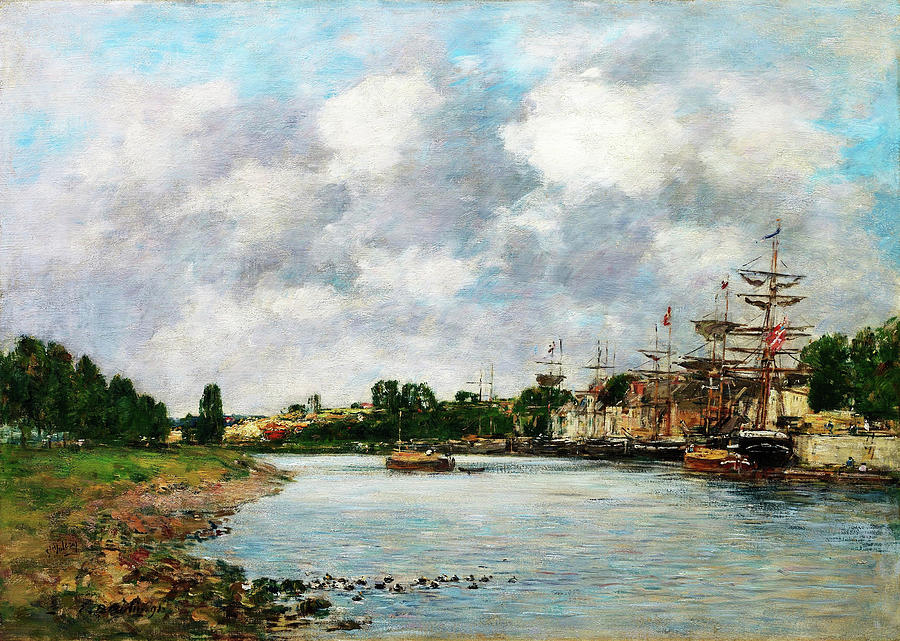 Eugene Louis Boudin Painting - View Of The Port Of Saint, Valery-sur-somme - Digital Remastered Edition by Eugene Louis Boudin