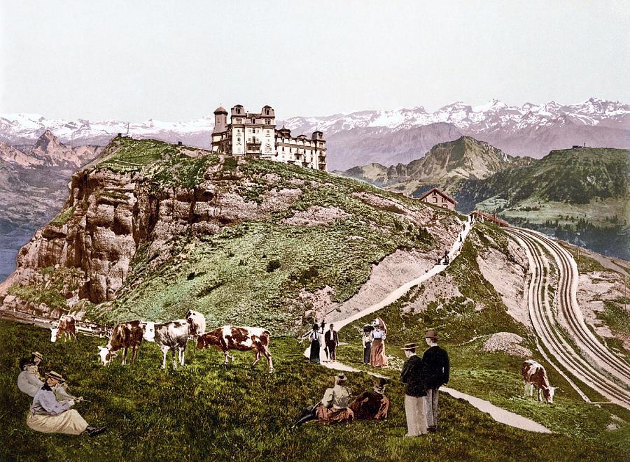View Of The Schwyz Alps From Rigi Kulm, Schwyz, Switzerland 1890. Photograph