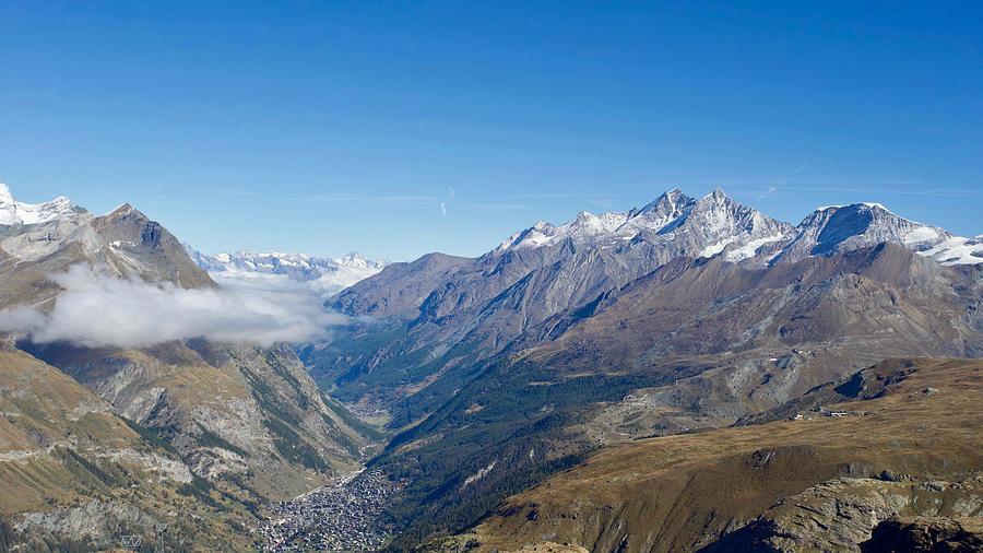 View Of Zermatt From Trockener Steg, Visp,valais,switzerland. Photograph
