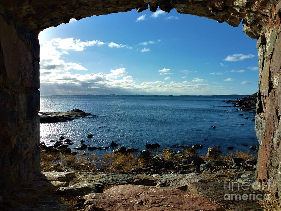View On The Baltic Sea From Loophole On The Island Of Suomenlinna Photograph