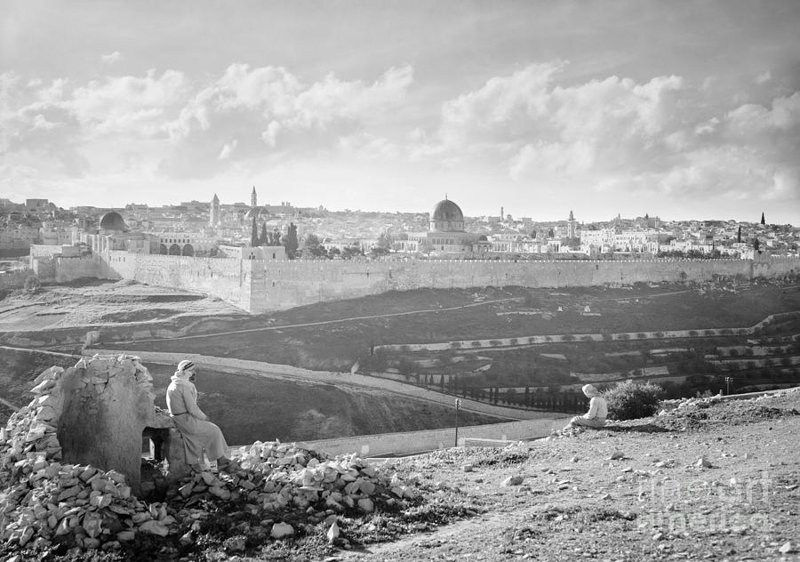 View towards Jerusalem, 1941 by Granger