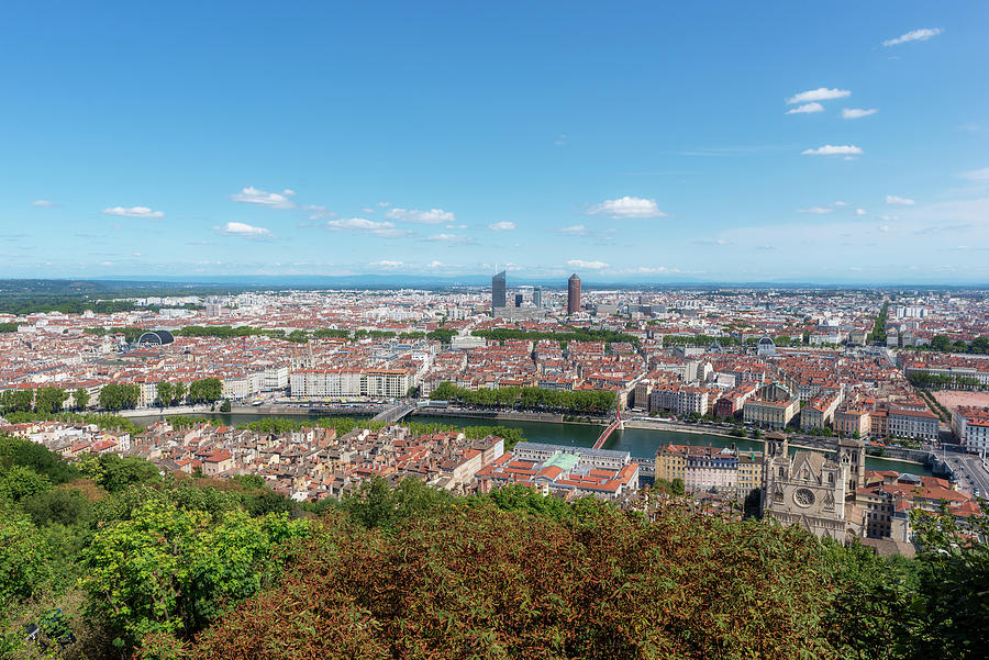 Lyon Photograph - Viewpoint To The City Of Lyon by Vicen Photography