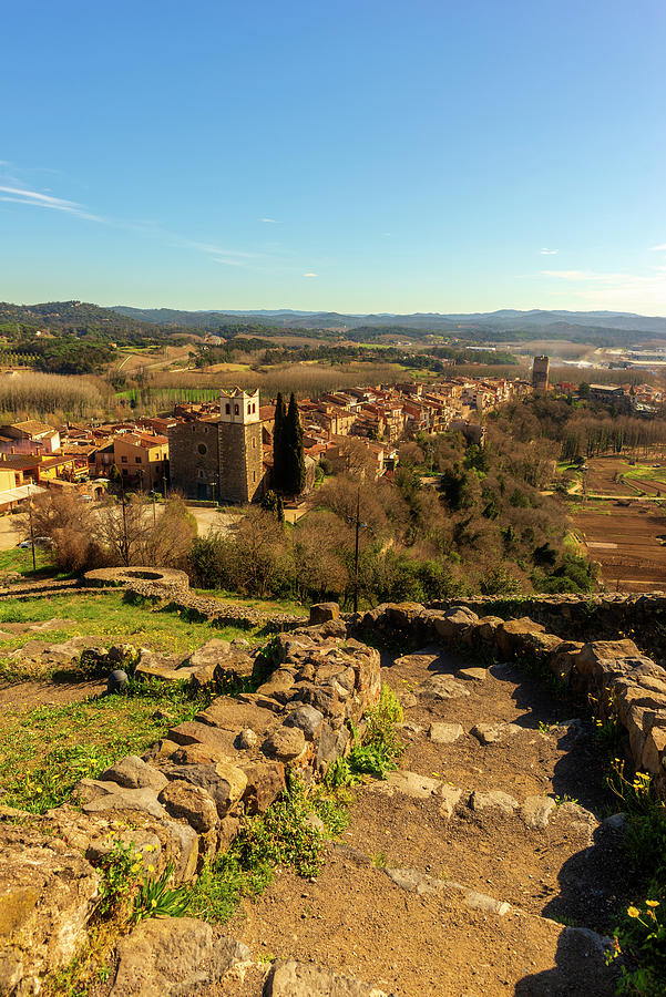 Color Photograph - Views Of The Town Of Hostalric In Girona by Vicen Photography