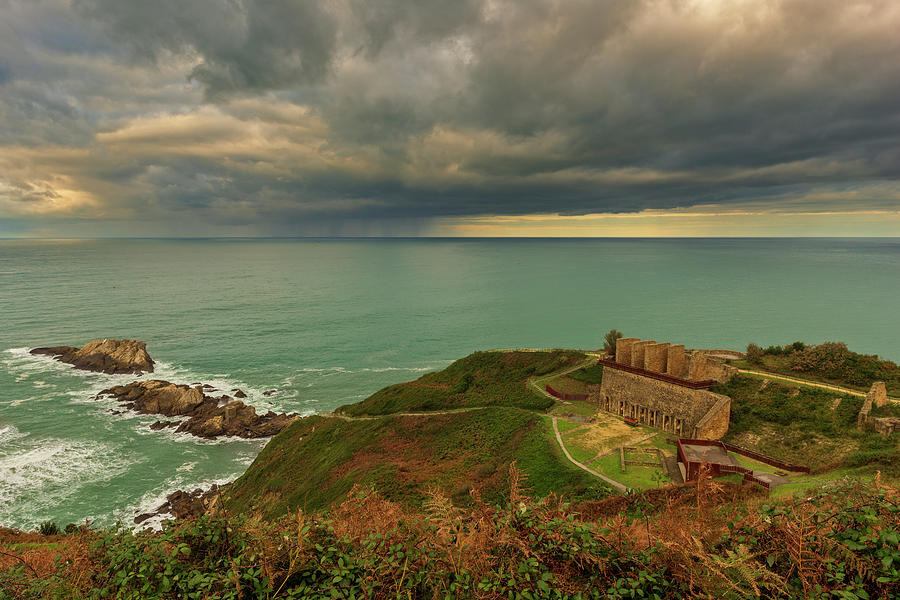 Views of the Zarautz coast at sunset by Vicen Photography
