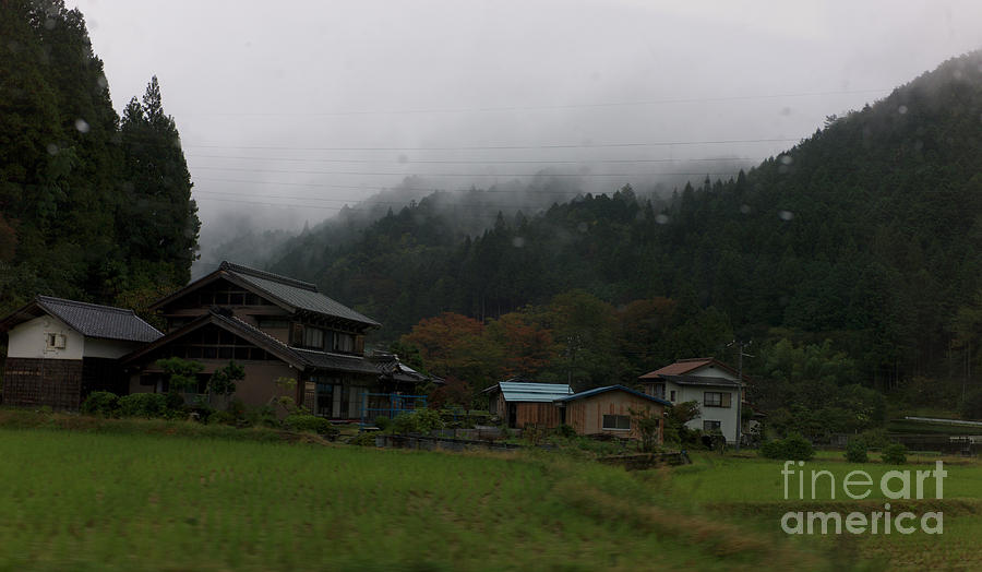 village and Japanese Alps Photograph