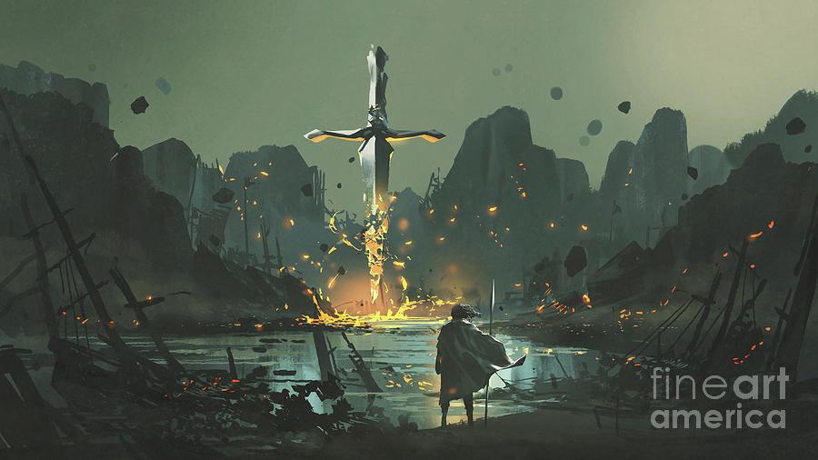 Village Of The Broken Sword Painting