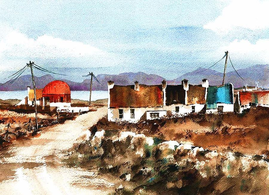 Village of Valley, Achil. by Val Byrne